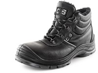 Ankle footwear SAFETY STEEL NICKEL S3, winter, black