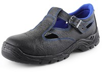 Sandal leather CXS DOG TERIER S1, black-blue