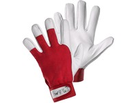 Gloves TECHNIK, combined, red-white