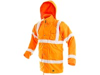 High visibility padded parka CAMBRIDGE, men´s, orange