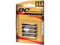 Mikrotužková baterie, alkalická, AAA, 4 ks