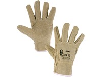 Gloves MEKA, leather, size 10