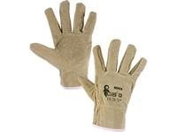 Kožené rukavice MEKA, vel. 10
