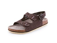 Sandals CORK FILL, men´s, with bands,  brown