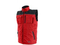 Padded vest SEATLE, winter, men´s, red-black