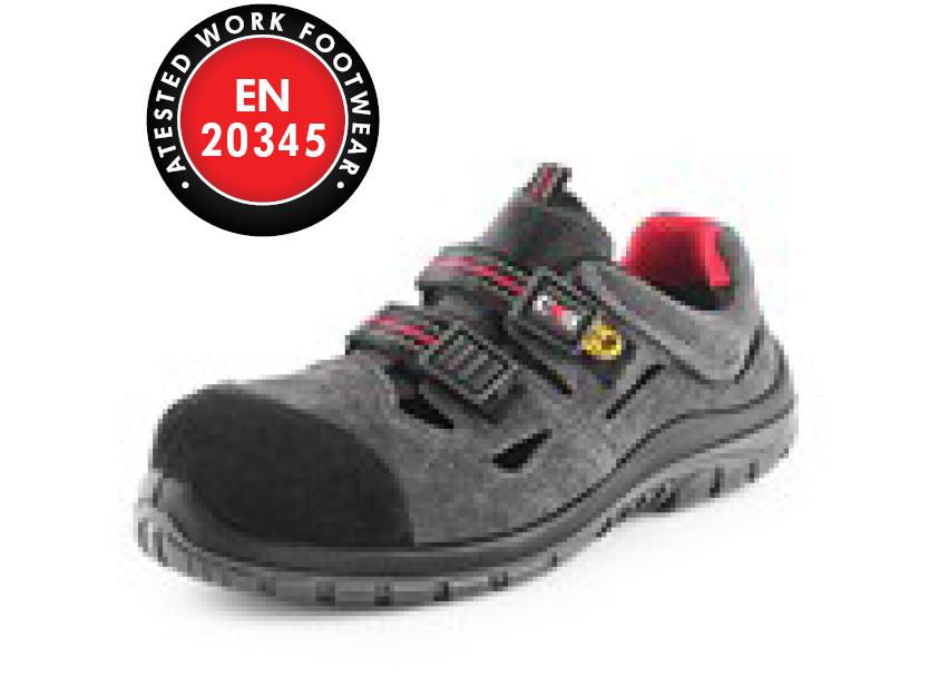 Obuv sandál CXS ROCK ESD GALLITE S1P, šedý