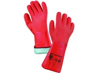 Gloves ZARO WINTER, winter, dipped in PVC, orange, size 11