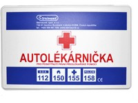 Car First aid kit, type I, plastic