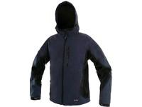 Pánská softshell bunda PUERTO, modro-černá