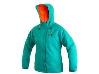 Dámská zimní bunda KENOVA, zeleno-oranžová