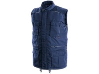 Padded vest OHIO, winter, men's, blue