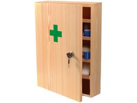 First aid kid, wooden
