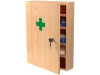 Dřevěná nástěnná lékarnička