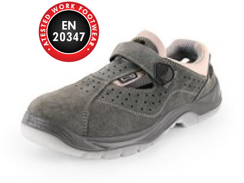 Sandals combined CXS DOG COLLY O1, grey