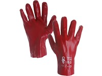 Gloves KADO, dipped in PVC,red , size 10