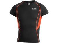 Pánské funkční tričko COMFORT, kr. rukáv, černo-oranžové