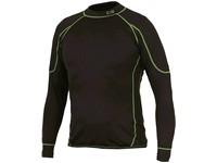 T-shirt REWARD, functional, long sleeve, children, black-green