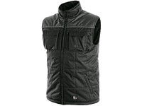 Paddes vest SEATTLE, winter,fleece, men´s, black-grey