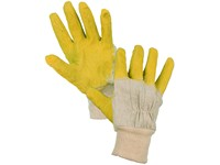 Gloves DETA, dipped in latex, white-yellow, size 10