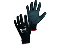 Gloves BRITA BLACK, dipped in polyurethane, black