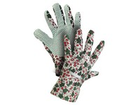 Gloves TABLA, textile, with PVC dots, size 08