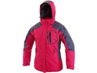 Dámská zimní bunda HAVRE, růžovo-šedá