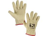 Kožené rukavice LOTUS, vel. 10