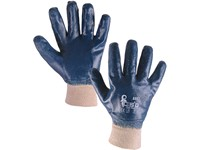 Gloves ARET, dipped in nitrile, blue, size 10