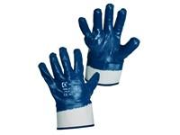 Povrstvené rukavice PELA, modré, vel. 10