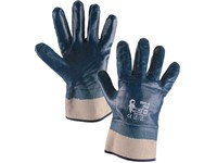 Gloves PELA, dipped in nitrile, blue, size 10