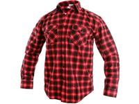 Pánská košile s dlouhým rukávem TOM, červeno-černá