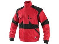 Jacket CXS LUXY EDA, prolonged, men´s, red-black