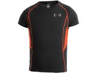 Dětské funkční tričko COMFORT, kr. rukáv, černo-oranžové