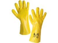 Gloves TEKPLAST, acid resistant, yellow, size 10