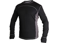Tričko COOLDRY, funkční, pánské, černo-šedé
