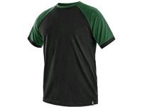 Tričko s krátkým rukávem OLIVER, černo-zelené