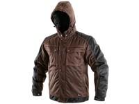 Pánská zimní bunda IRVINE, hnědo-černá
