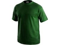 Tričko s krátkým rukávem DANIEL, lahvově zelené, vel. M