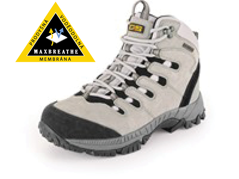 Kotníková treková obuv GOTEX MOUNT MCKINLEY, černo-šedá