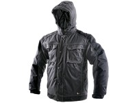 Men ́s padded jacket 2in1 IRVINE, winter, grey-black