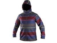 Pánská softshell bunda JASPER, modro-červená