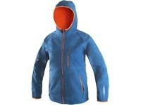 Dětská softshell bunda LEDUC, modro-oranžová