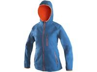 Dámská softshell bunda LEDUC, modro-oranžová