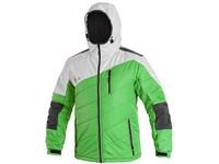 Pánská zimní bunda GLACIER, zeleno-bílo-šedá