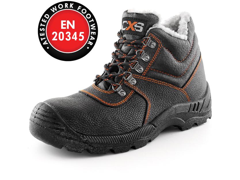 Zimní kotníková obuv s ocelovou špicí STONE APATIT WINTER S2