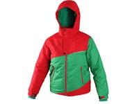 Dětská zimní bunda TALON, červeno-zelená