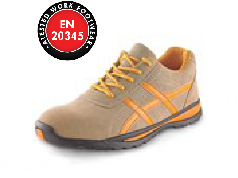 Low footwear CXS LAND PONZA S1P, beige-orange
