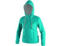 Sweatshirt HARRIET, ladies´, turquoise-grey