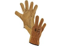 Gloves SOKAR, leather, size 10