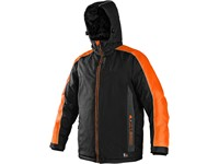 Pánská zimní bunda BRIGHTON, černo-oranžová